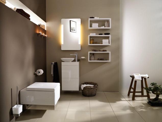Nowoczesne meble łazienkowe w naturalnej łazience