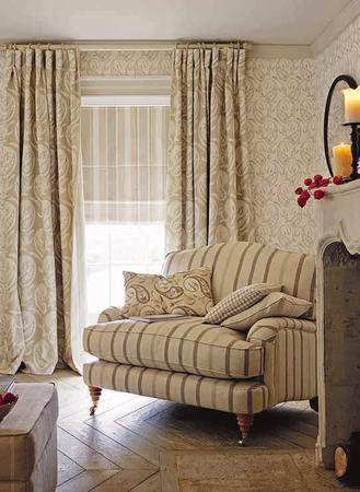 Fotele tapicerowane w tkaninie i skórze LAURA ASHLEY