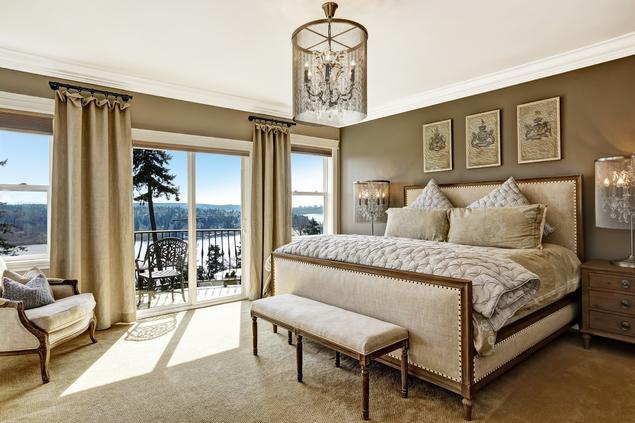 Aranżacja sypialni - elegancki styl rustykalny