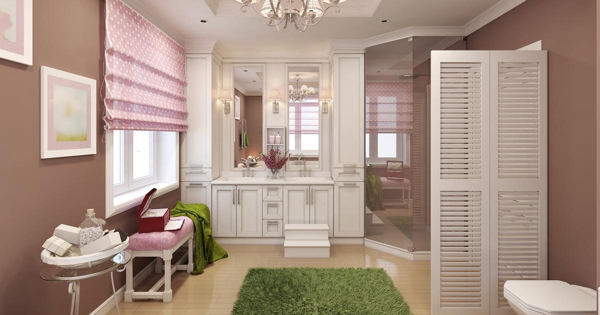 pomys na azienk kobiece wn trze. Black Bedroom Furniture Sets. Home Design Ideas