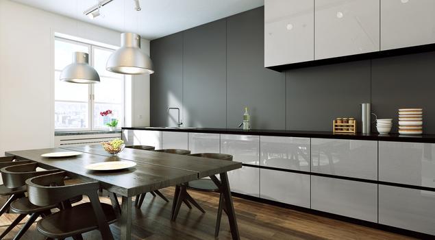 Szyba do kuchni, czyli szkło lakierowane na ścianie