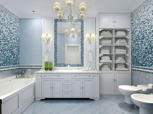 Niebieska łazienka Pomysł Na Wnętrze Stronywnetrza