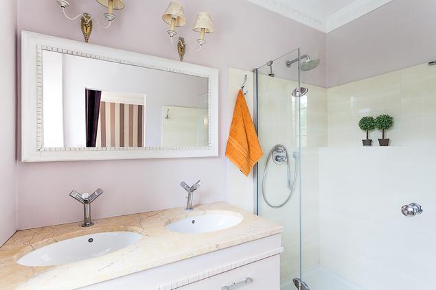 Zobacz galerię zdjęć Pomysł na ładną łazienkę z prysznicem  Stronywnętrza.pl